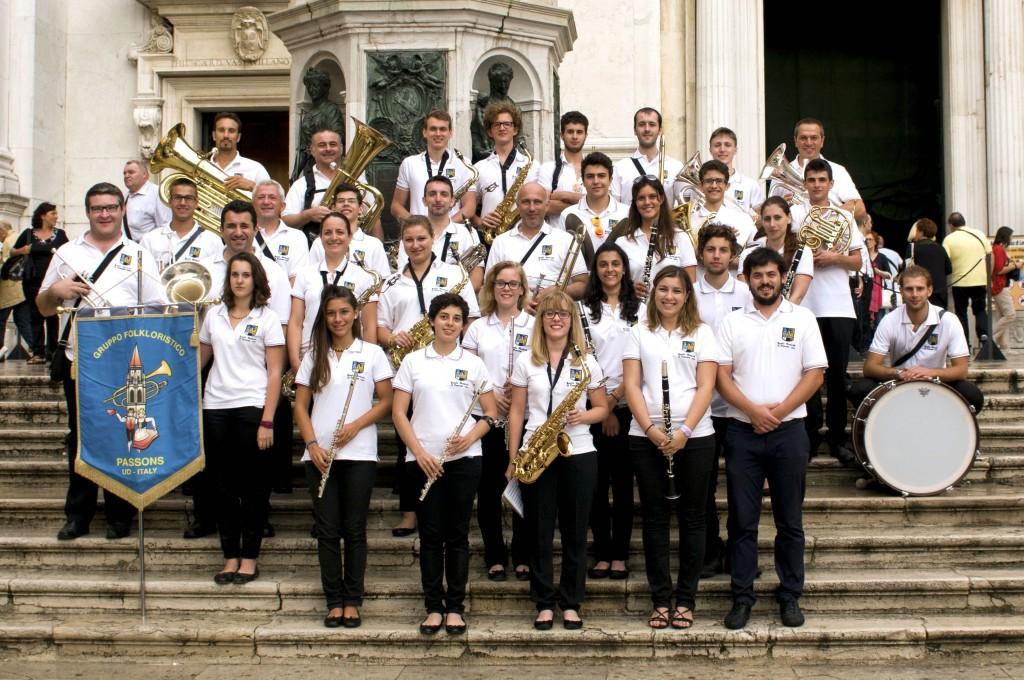 La Banda Musicale di Passons a Loreto (AN) in luglio 2014 al termine del Gemellaggio con la Banda Musicale di Polverigi.